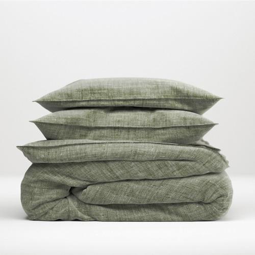dekbedovertrek lino armygreen